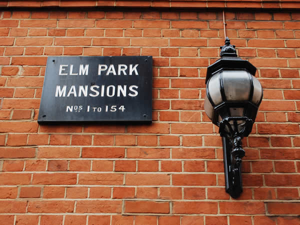 Elm Park Mansions wall